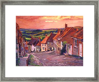 Little Country Village England Framed Print by David Lloyd Glover