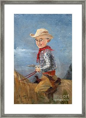 Little Cowboy - 1957 Framed Print by Art By Tolpo Collection