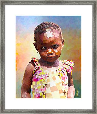 Little Cute Girl Framed Print