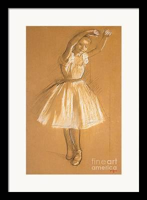 Dancers Drawings Framed Prints