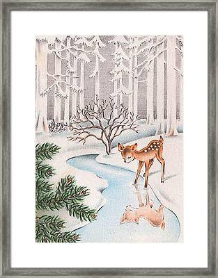 Little Deer Framed Print by Munir Alawi