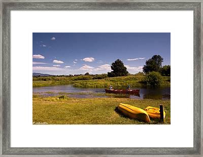 Little Deschutes River Bend Sunriver Thousand Trails Framed Print