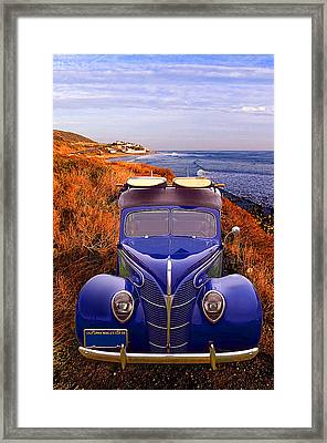 Little Deuce Coupe At The Beach Framed Print