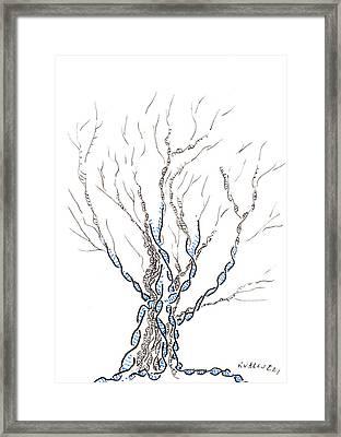 Little Dna Tree Framed Print