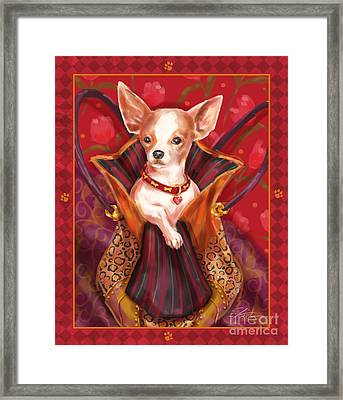 Little Dogs- Chihuahua Framed Print by Shari Warren