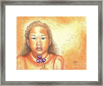 Framed Print featuring the mixed media Little Doll by Alga Washington