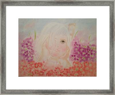 Framed Print featuring the painting Little Dreamer by Brindha Naveen