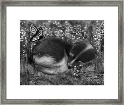 Little Dreamer Framed Print by Miki Krenelka