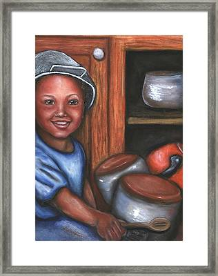 Little Drummer Boy Framed Print by Alga Washington