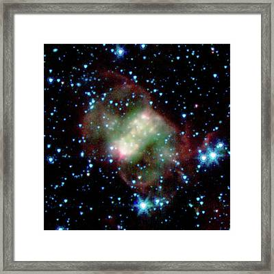 Little Dumbbell Nebula Framed Print by Nasa/jpl-caltech/j. Hora (harvard-smithsonian Cfa)