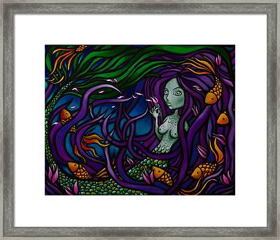 Little Earthquakes Framed Print by Jesus Fidel
