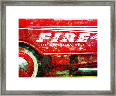 Little Fire Chief Framed Print by David Kuhn