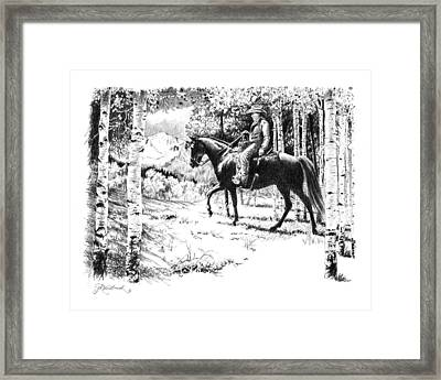 Framed Print featuring the painting Little Fox And Ray by Jill Westbrook