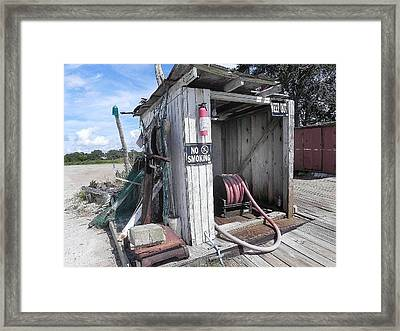 Little Gas Shack Framed Print by Patricia Greer