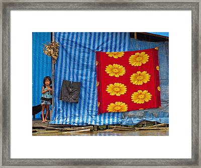 Little Girl  Framed Print by David Freuthal