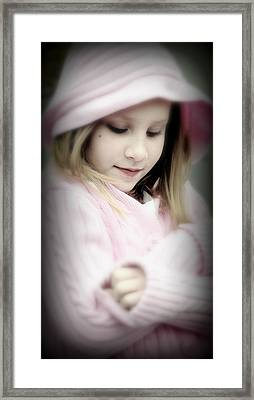 Little Girl Pink Framed Print by Jon Van Gilder