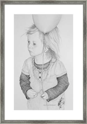 Little Girl With Balloon Framed Print