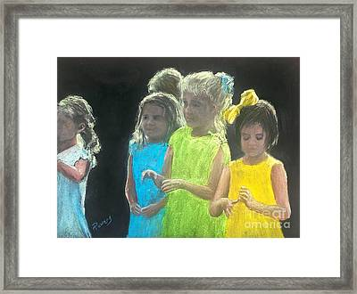 Little Girls Framed Print by Mary Lynne Powers