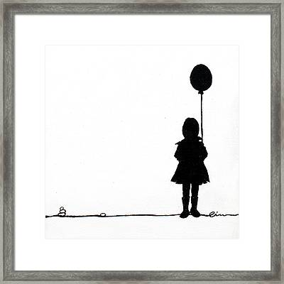 Little Girls On Little Canvas  Framed Print by Cindy D Chinn