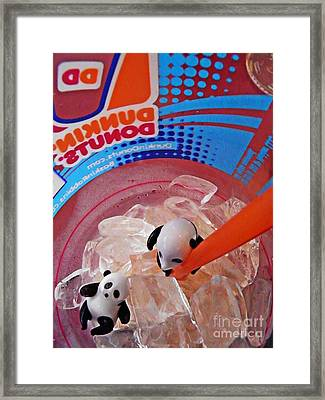 Little Glass Pandas 63 Framed Print