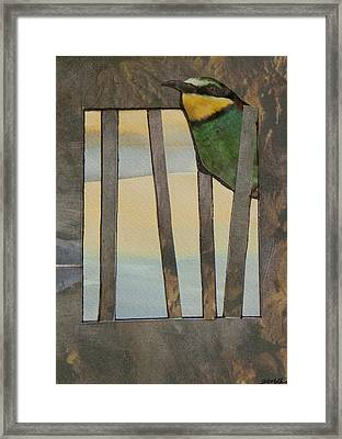Little Green Bird Framed Print