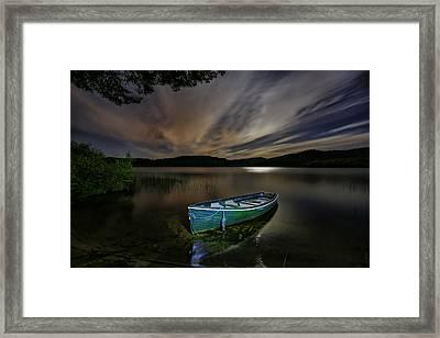 Little Green Boat Framed Print
