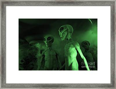 Aliens And Ufo 6 Framed Print by Bob Christopher