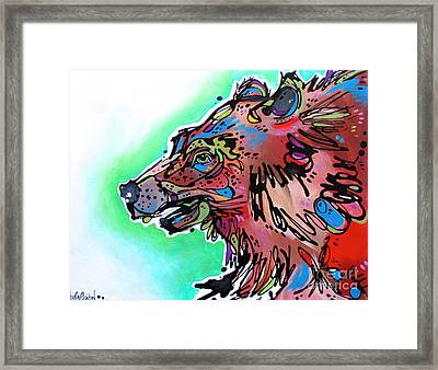 Framed Print featuring the painting Little Griz by Nicole Gaitan