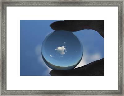 Little Heart Cloud Framed Print by Cathie Douglas
