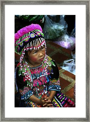 Little Hill Tribe Girl Framed Print