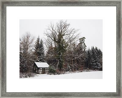 Little Hood And Beautiful Trees In Winter Framed Print