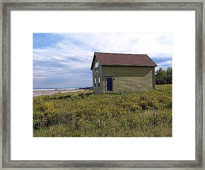 Little House By The Sea Framed Print by Janet Ashworth