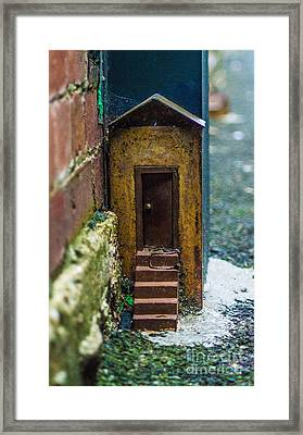 Little House Down The Lane  Framed Print
