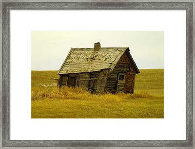 Little House On The Big Prairie Framed Print by Jeff Swan
