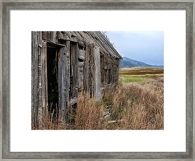 Little House On The High Plains Framed Print by Kathleen Bishop