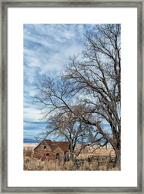 Little House On The Playa Framed Print