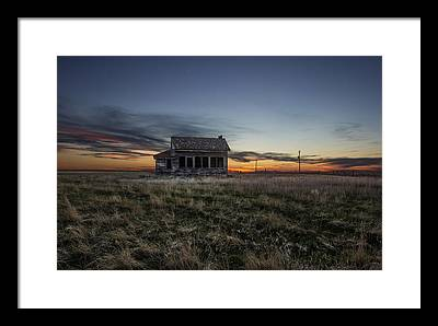 Prairie Sunset Framed Prints
