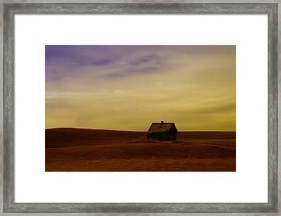 Little House On The Prairie  Framed Print by Jeff Swan