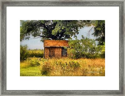 Framed Print featuring the photograph Little House On The Prairie by Peggy Franz