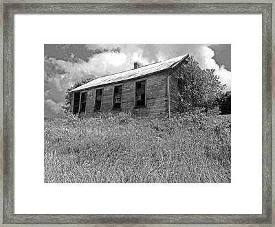 Little House On The Prairie Framed Print by Thomas Michael Conner