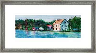 Little Houses  Framed Print by Anais DelaVega