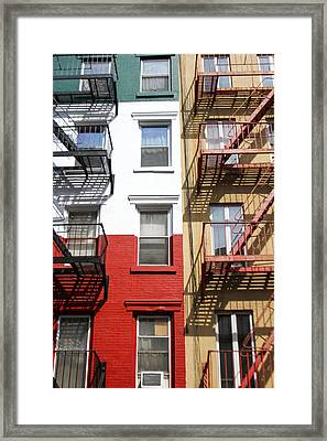 Little Italy. Framed Print by Menachem Ganon