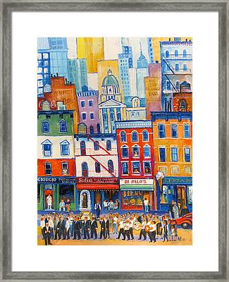 Little Italy New York Framed Print by Mikhail Zarovny