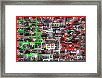Framed Print featuring the digital art Little Italy Photo Collage by Steven Spak