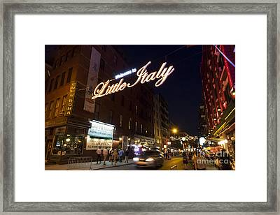 Little Italy Sign Framed Print by Ed Rooney
