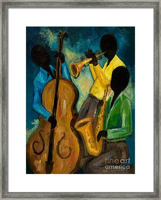 Little Jazz Trio IIi Framed Print by Larry Martin