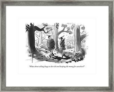 Little John And Robin Hood Walk Framed Print