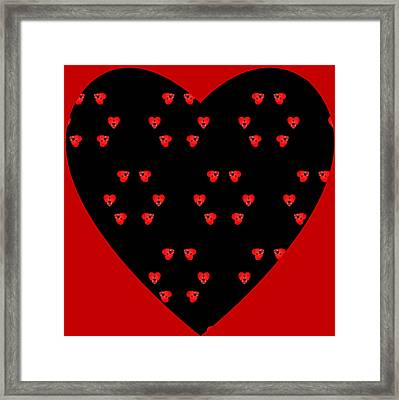 Framed Print featuring the digital art Little Kaleidoscope Hearts by Pete Trenholm