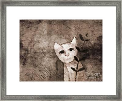 Little Kitten Framed Print by Lutz Baar