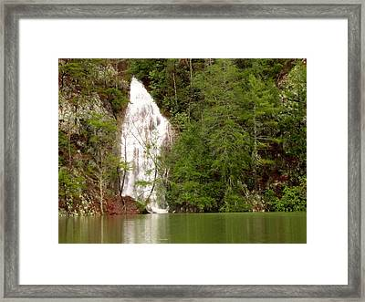 Little Laurel Branch Falls Landscape Framed Print